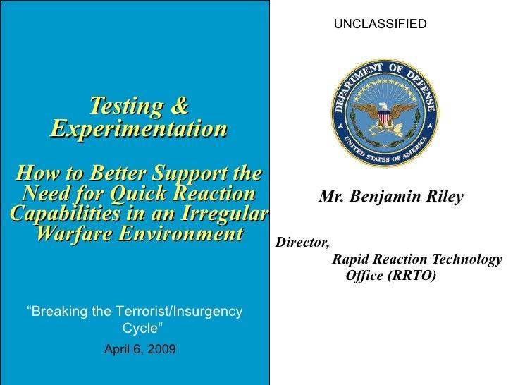 Rapid reaction technology 2009 irregular warfare