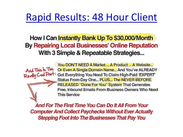 Rapid Results 48 Hour Client