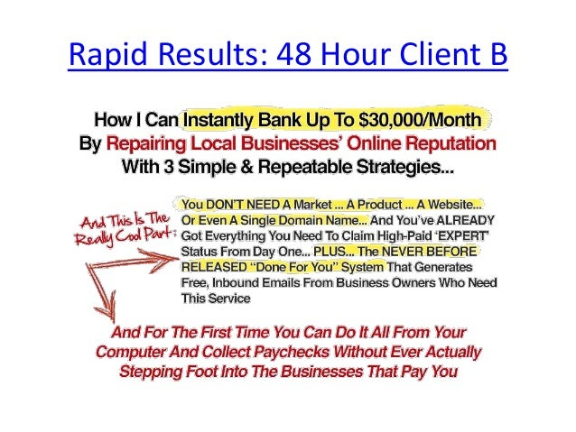 Rapid Results 48 Hour Client B