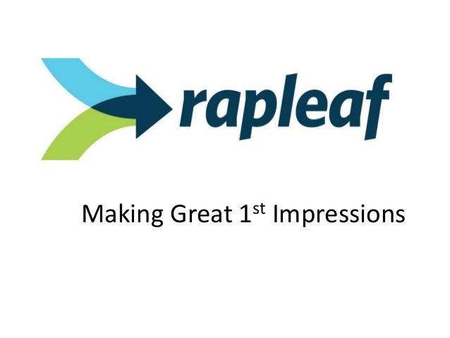 Rapleaf presentation for Chicago AMA CRM Event