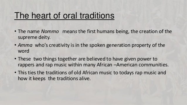 "rap music african roots and slavery Influence from negro spirituals lyrics: ellison (1989) took blues' precedence over  any other black music genre as a close descendent of african music because of  the common patterns and lyrics based on african models  this ""feeling"", of  course, came from the pain and strife of the african slaves,  the origins of hip  hop."