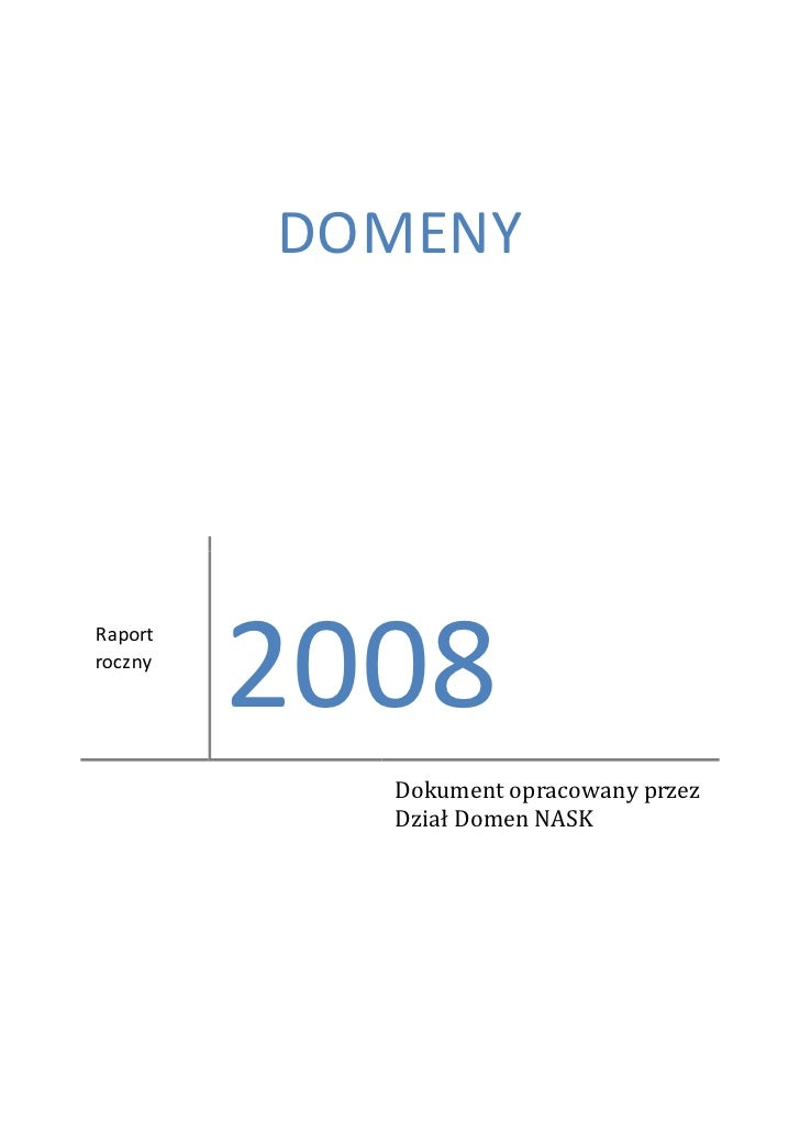 Domeny 2008 raport DNS