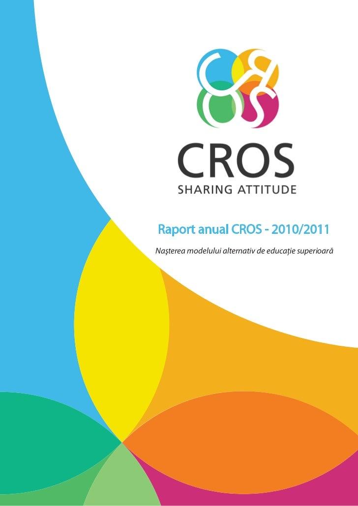 Raport anual cros 2010 2011