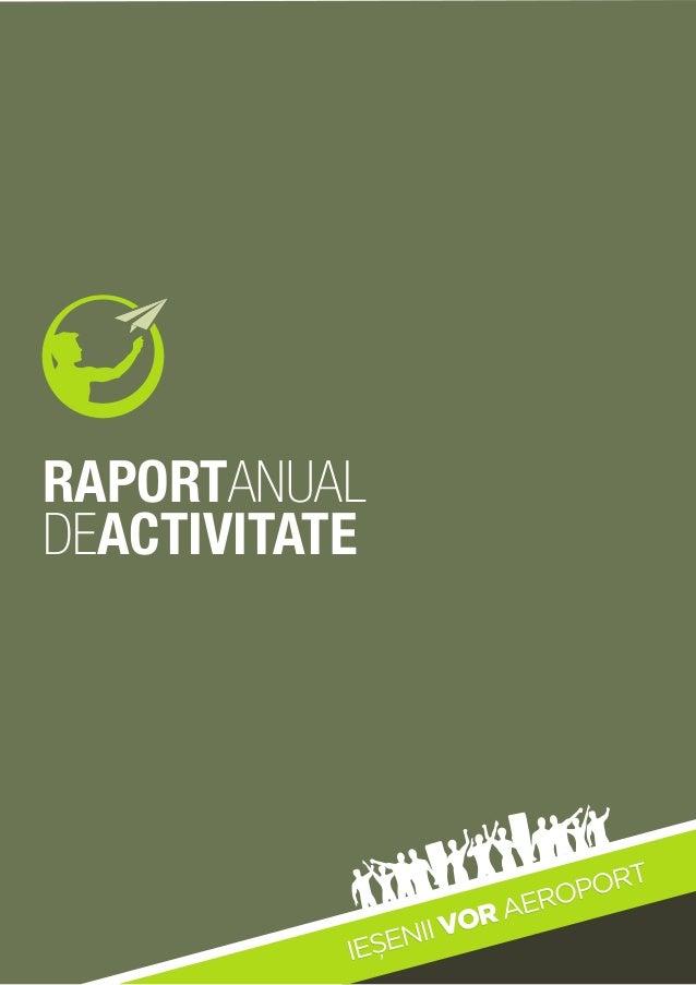 Iesenii vor aeroport - Raport anual 2012-2013
