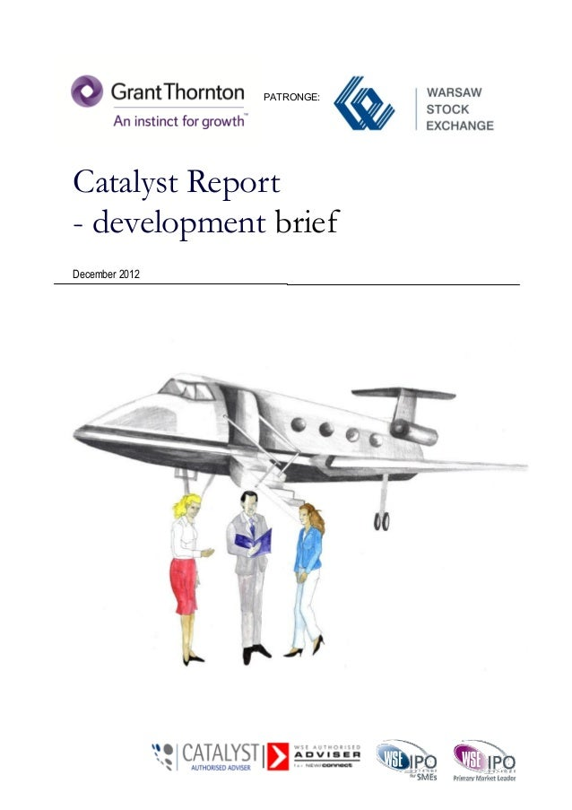 PATRONGE:Catalyst Report- development briefDecember 2012                Catalyst Report—Development Brief