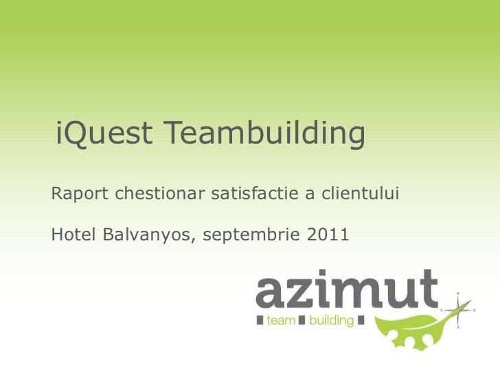 Raport chestionar satisfactie client   iQuest sept 2011