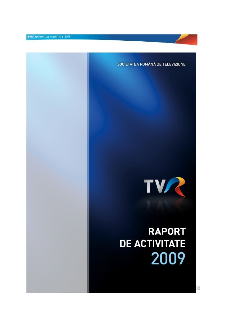 Raport de activitate SRTv 2009