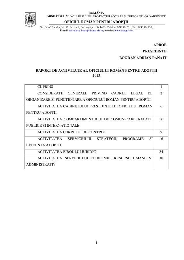 Raport de activitate ORA 2013 final