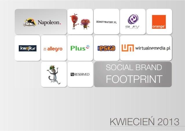 Social Brand Footprint - kwiecień 2013