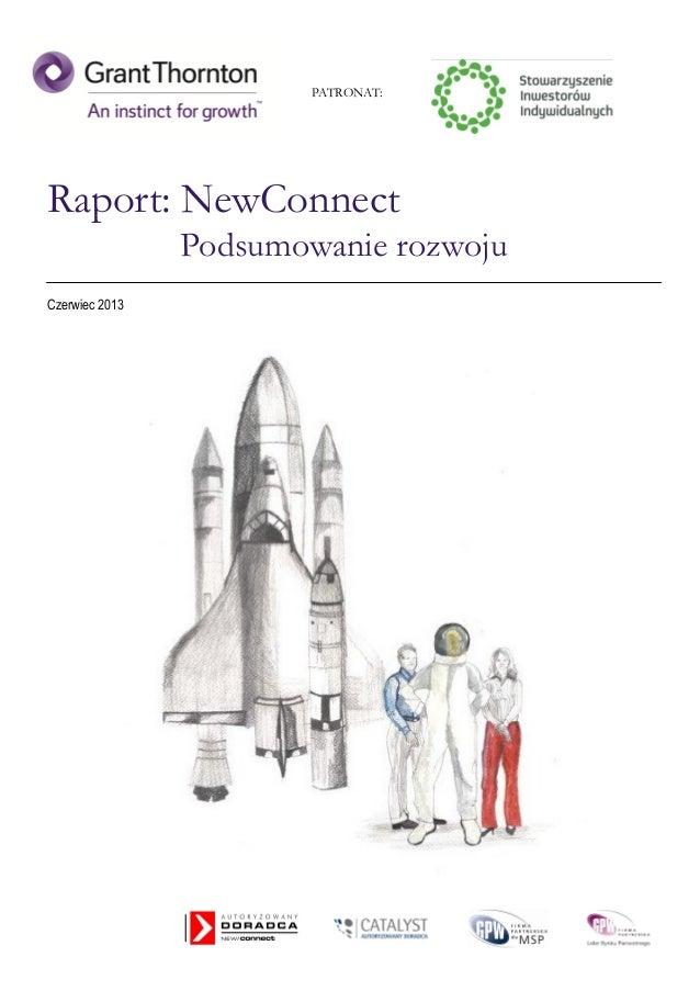 Raport NewConnect - podsumowanie rozwoju