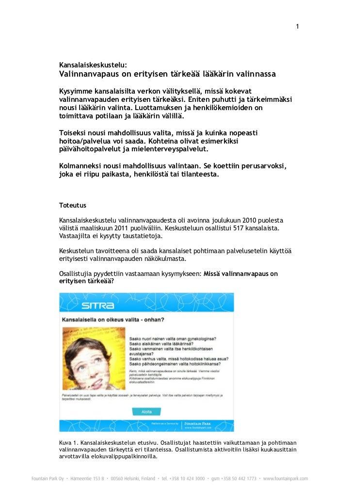 Raportti kansalaiskeskustelu 25.03.2011