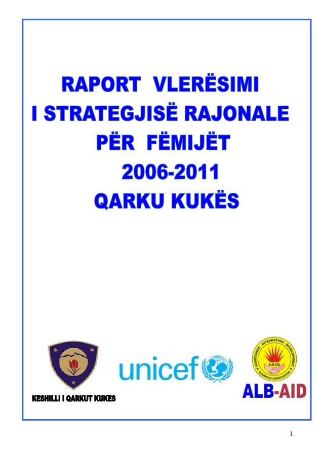 Raport vleresimi i strategjise per femijet 2006 2011 (30 november 2012)