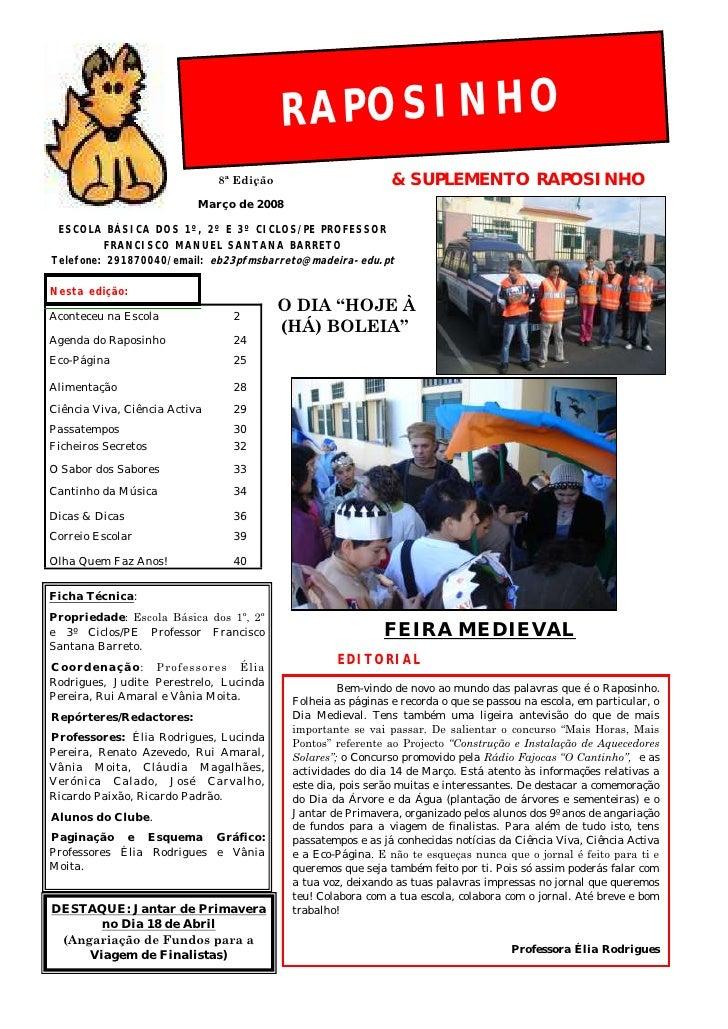 RAPOSINHO                               8ª Edição                       & SUPLEMENTO RAPOSINHO                           M...