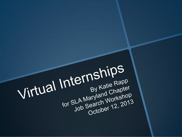 Presentation on Virtual Internships