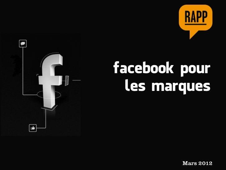facebook pour  les marques         Mars 2012
