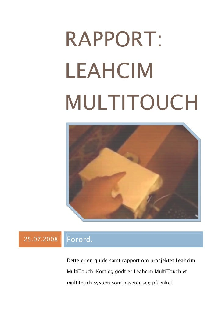 Leahcim MultiTouch rapport