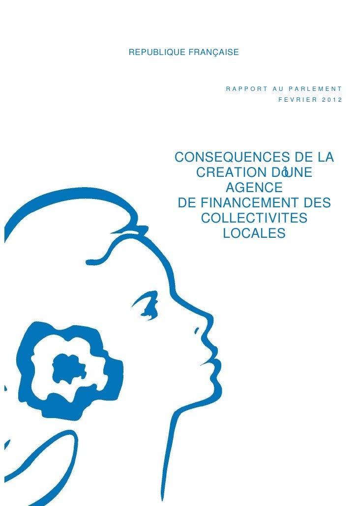 Rapport gouvernemental sur l'Agence de financement des collectivités