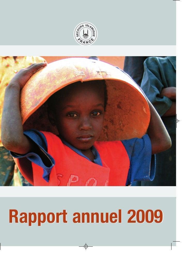 Secours Islamique France - Rapport Annuel - 2009