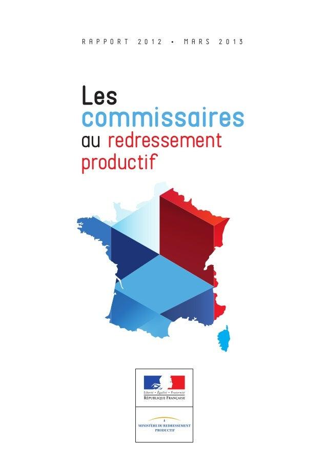 Rapport annuel-2012-commissaires-redressement-productif