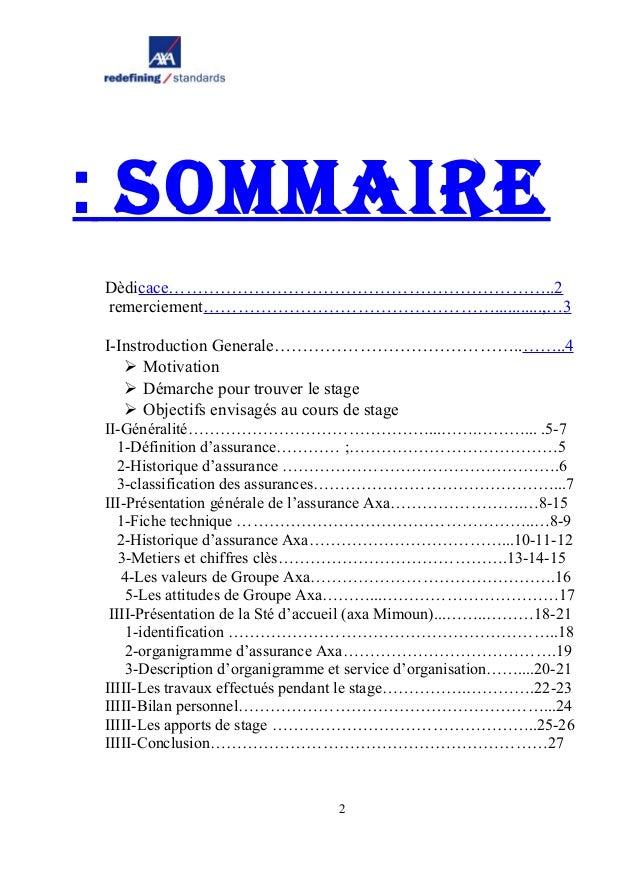 Rapport de stage axa - Rapport de stage 3eme cabinet medical ...