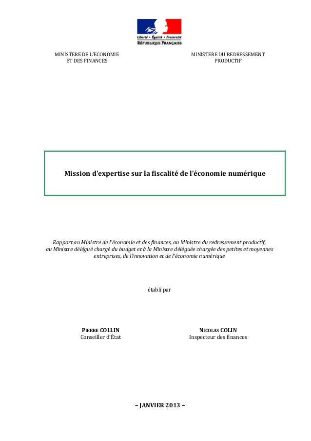 Rapport fiscalite-du-numerique 2013