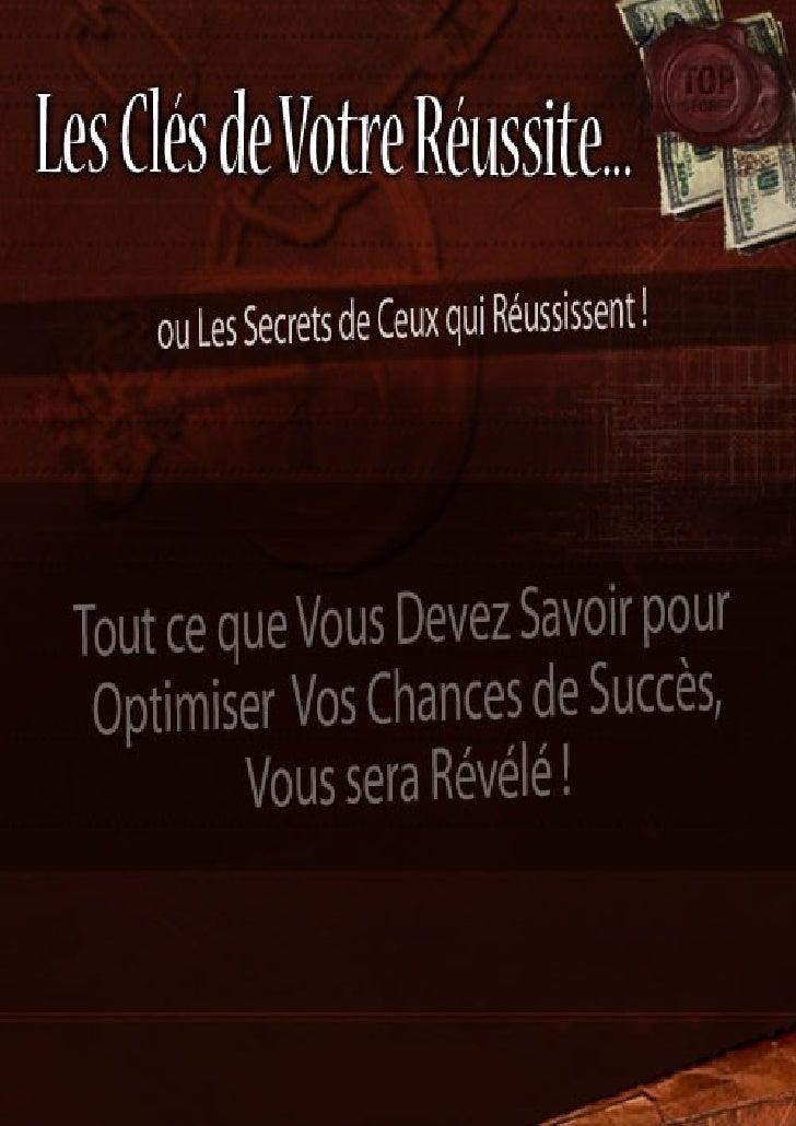 Les clés de votre réussite (rapport)