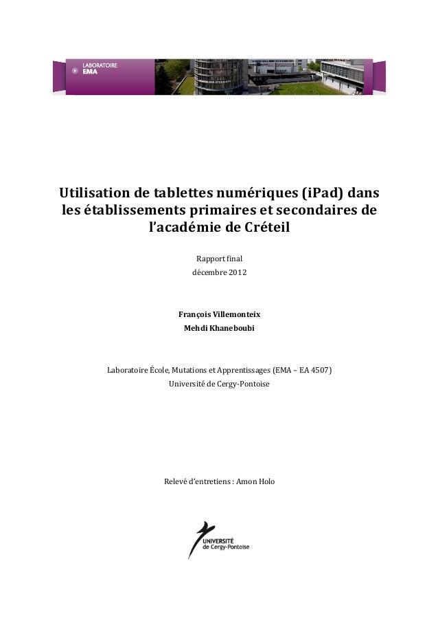 Rapport tablettes-creteil-2012