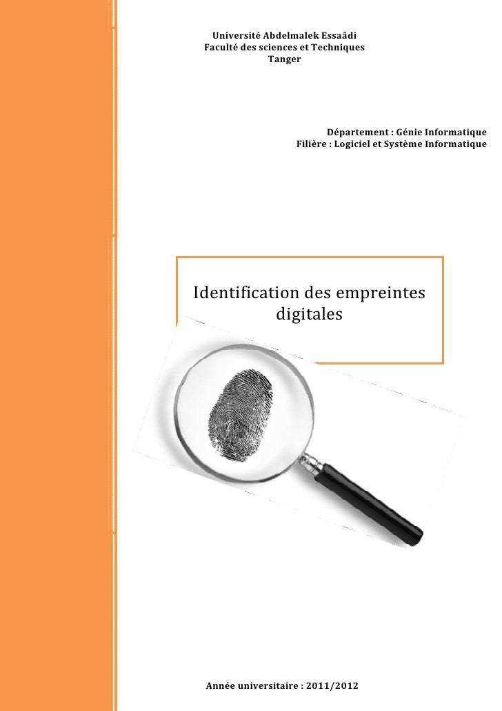Identification des empreintes digitales