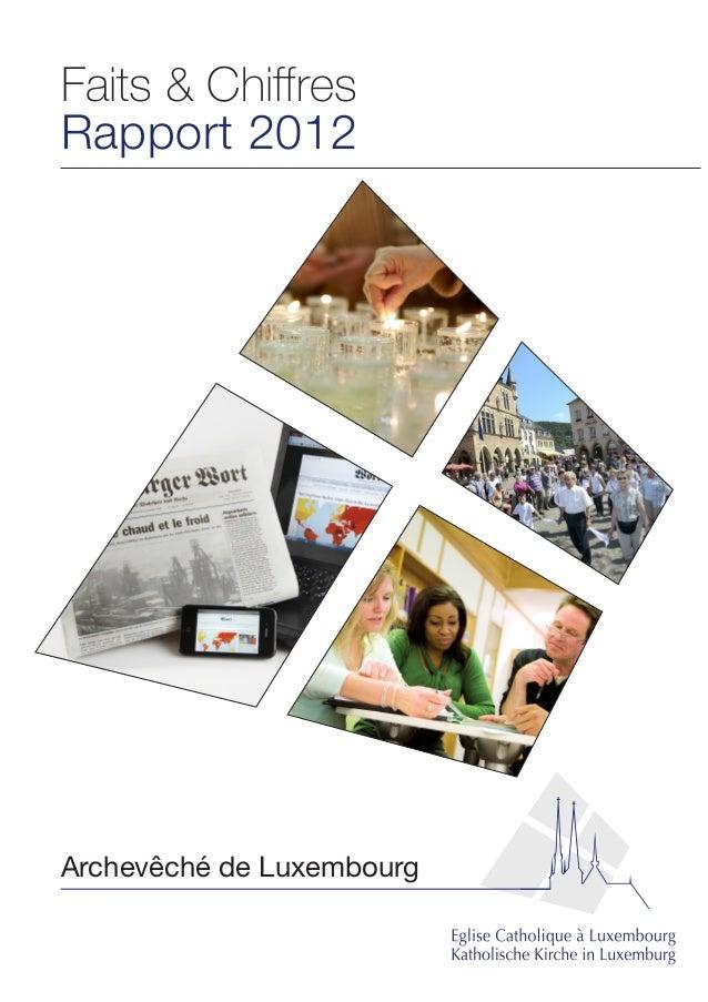 Faits & Chiffres Rapport 2012 Archevêché de Luxembourg