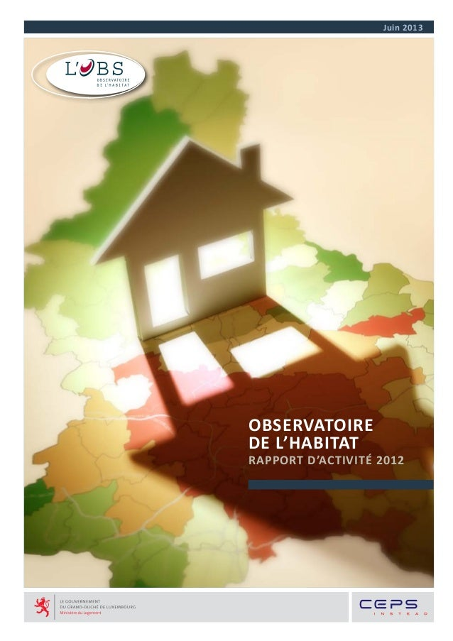 Rapport 2012 observatoire de l'habitat