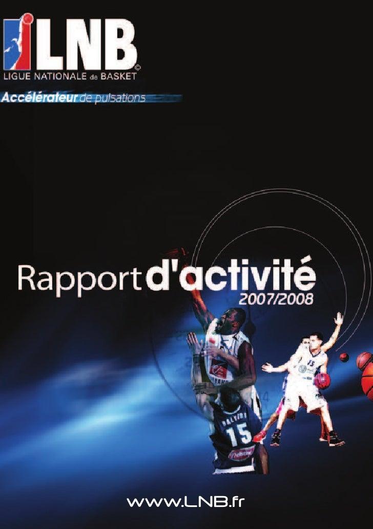 Rapport d'Activité LNB 2007-2008