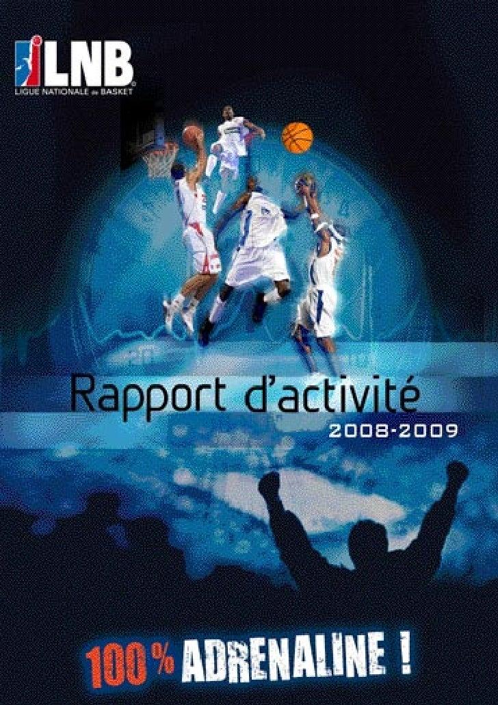 Rapport d'Activité LNB 2008-2009