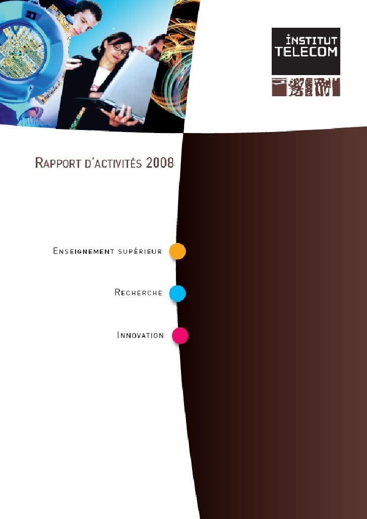 Rapport d'activité 2008 de l'Institut Télécom