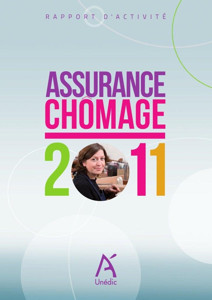 L'assurance chômage en 2011 : rapport d'activité