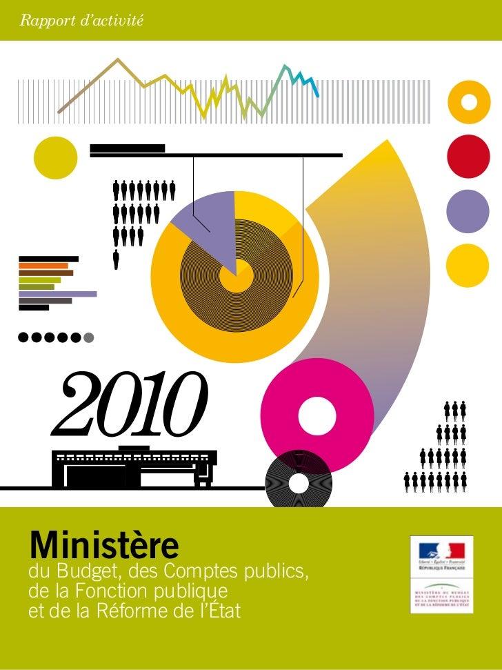 Rapport d'activité Ministère du Budget, des Comptes publics, de la Fonction publique et de la Réforme de l'État