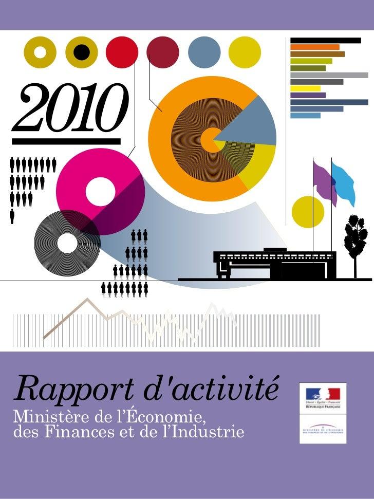 Rapport dactivitéMinistère de l'Économie,des Finances et de l'Industrie