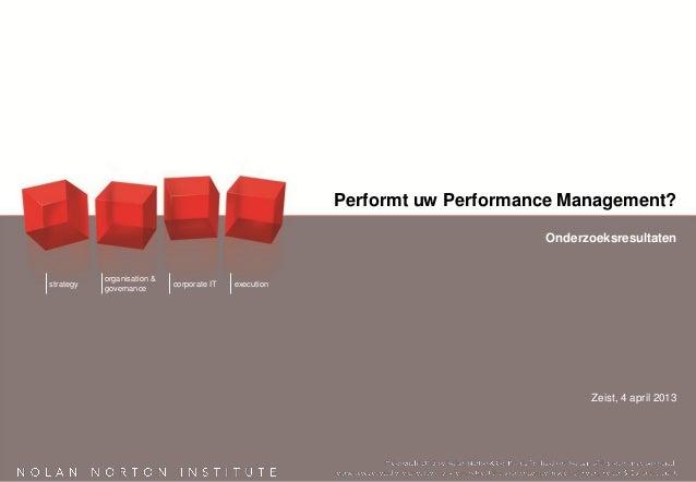 Rapportage performt uw performance management