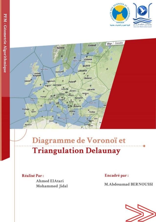 SOMMAIRE I. Introduction : 3 II. Généralités et propriétés mathématiques: 3 1. Le digramme de VORONOÏ : 3 2. Diagramme De ...