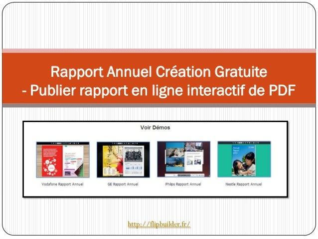 Rapport Annuel Création Gratuite - Publier rapport en ligne interactif de PDF http://flipbuilder.fr/