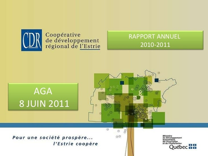 RAPPORT ANNUEL  2010-2011 AGA 8 JUIN 2011
