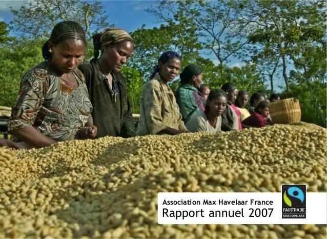 Association Max Havelaar France Rapport annuel 2007