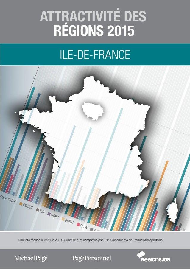 -DE-FRANCE CENTRE EST NORD OUEST PACA RHÔNE-ALPES SUD-OUEST DOM-TOM ETRANGER % % % % % % 10 15 20 25 30 ATTRACTIVITÉ DES R...