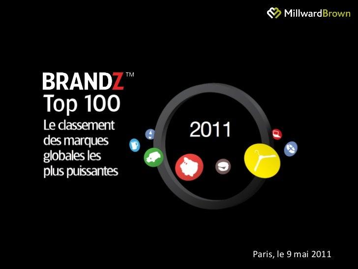 Classement Millward Brown des marques les plus puissantes : BrandZ Top100 2011