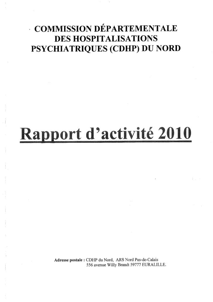 Rapport 2010 CDHP du Nord