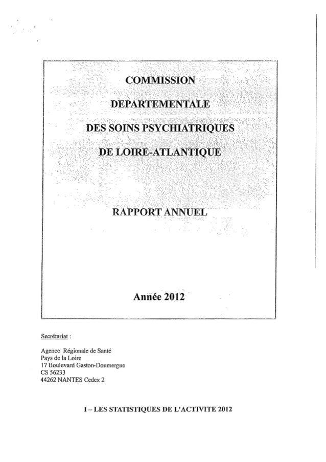 Rapport cdsp   loire altantique - 44 - année 2012