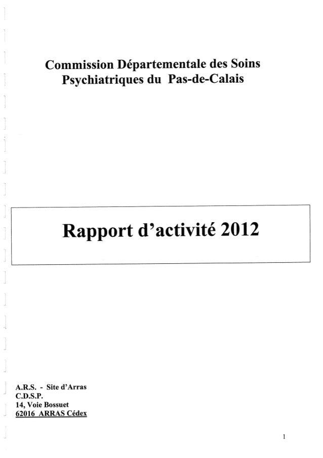 Rapport cdsp pas de calais 2012