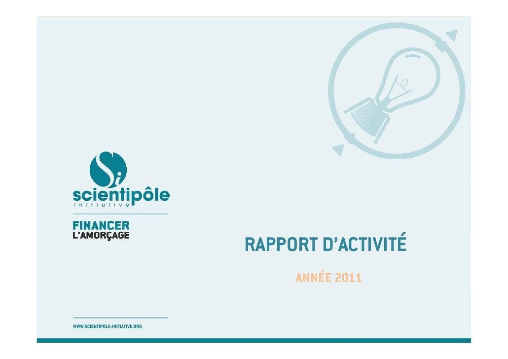 RAPPORT D'ACTIVITÉ     ANNÉE 2011