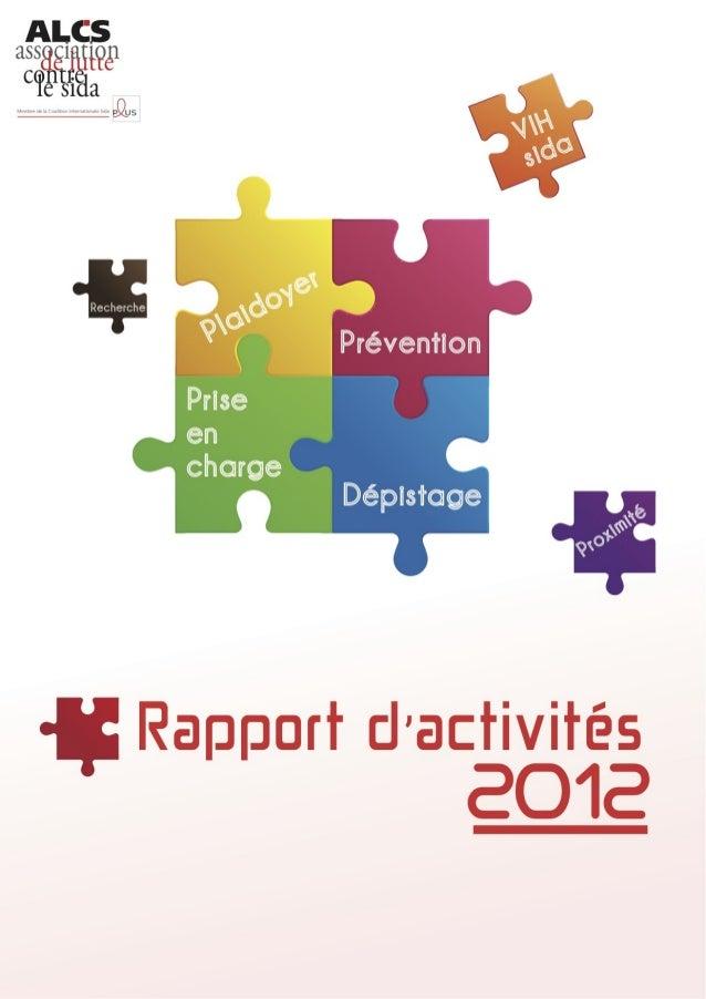 Rapport d'activité de l'ALCS 2012