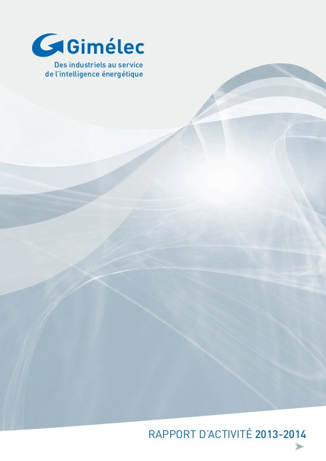 RAPPORT D'ACTIVITÉ 2013-2014 Des industriels au service de l'intelligence énergétique ➤