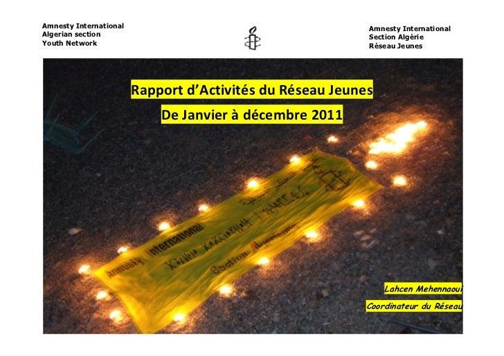 Rapport d'activité du réseau jeunes 2011